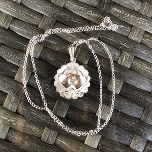 """Vintage Sterling Silver Necklace 18"""""""